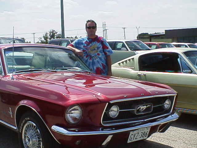 Charles Pegram(my son-in-law) and my 1967 Coupe